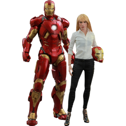 HOT TOYS - SET PEPPER POTTS & IRON MAN MARK IX - IRON MAN 3 1/6