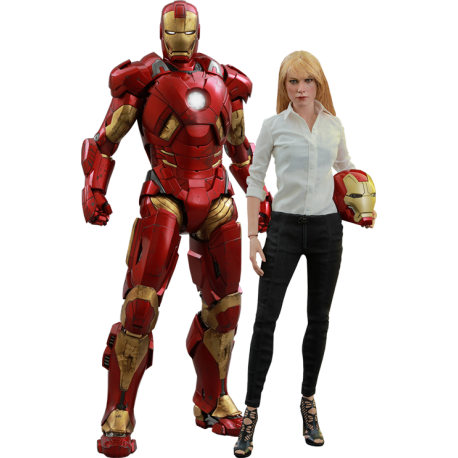 HOT TOYS - PEPPER POTTS et IRON MAN MARK 9 - IRON MAN 3 1/6