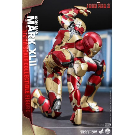HOT TOYS - IRON MAN 3 MARK 42 VERSION DELUXE - 1/4