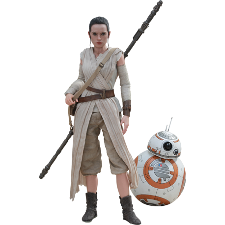 HOT TOYS - SET REY ET BB-8 - STAR WARS 1/6