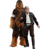 HOT TOYS - STAR WARS 7 - HAN SOLO AND CHEWBACCA FIGURE SET 1/6