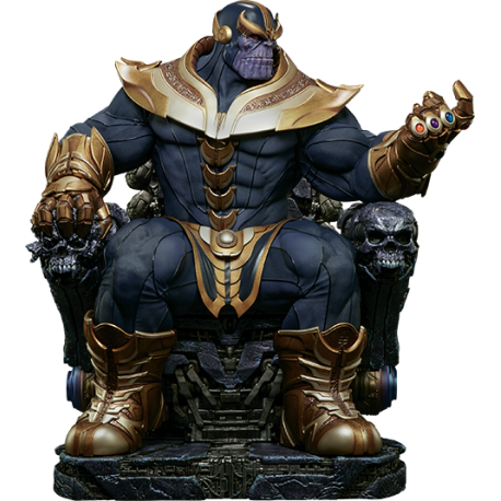 SIDESHOW - THANOS ON THRONE MAQUETTE