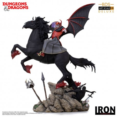 IRON STUDIOS - DONJONS ET DRAGONS VENGER WITH NIGHTMARE & SHADOW DEMON DELUXE ART SCALE 1/10