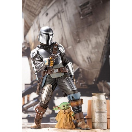 KOTOBUKIYA - THE MANDALORIAN PVC ARTFX - MANDALORIAN & THE CHILD 1/7