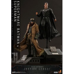 HOT TOYS - JACK SNYDER'S JUSTICE LEAGUE - KNIGHTMARE BATMAN SUPERMAN Pack 2 FIGURINES 1/6