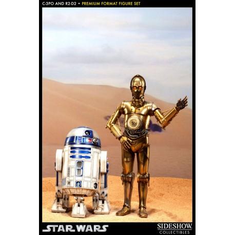 SIDESHOW - C-3PO & R2-D2 1/4  STAR WARS