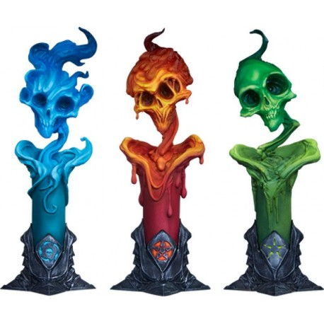 SIDESHOW - COURT OF THE DEAD - THE LIGHTER SIDE OF DARKNESS CANDLES SET